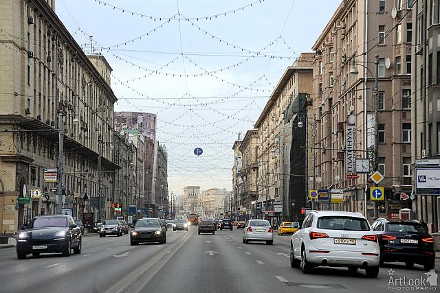 At the end of 1st Tverskaya-Yamskaya street