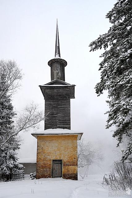 Tower of Old Witch in Snow