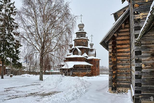 Wooden Transfiguration Church in Winter (Suzdal)
