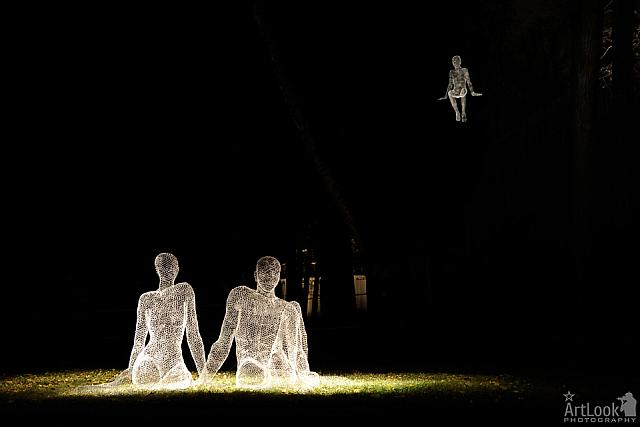 Illuminated Family by Cedric Le Borgne in Tsaritsyno Park