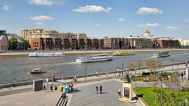 River Boats at Krymskaya Embankment