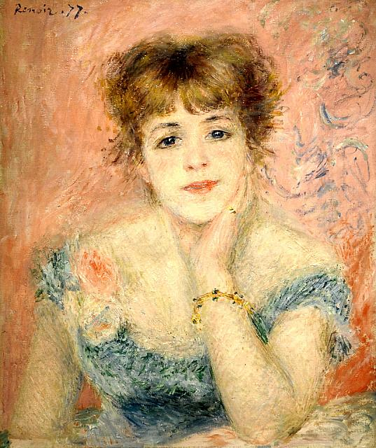 Portrait of Jeanne Samary (1877)