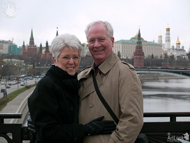 With Background of Moscow Kremlin