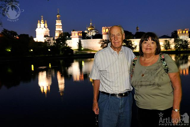 Together near Beautiful Novodevichy Convent at Night