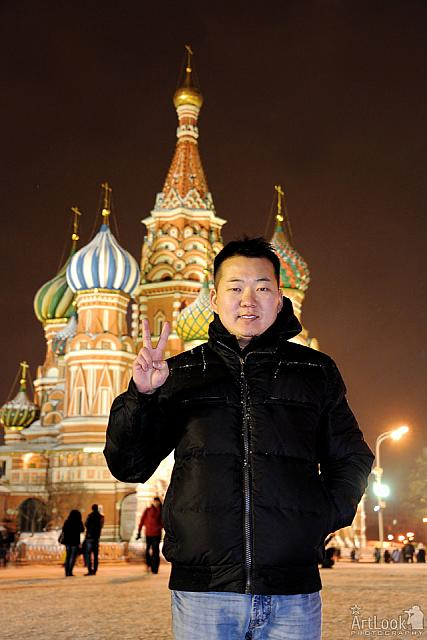 With Peace Sign from Red Square