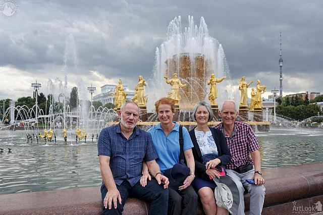 At Friendship of Nations Fountain in VDNKh Park