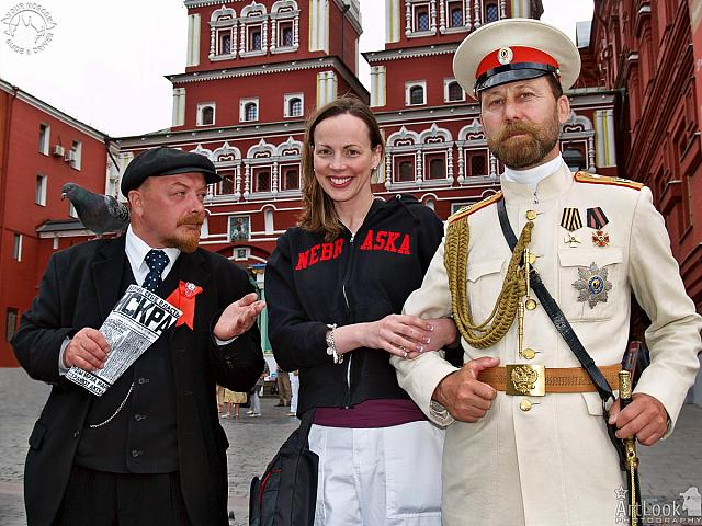 With Lenin and Nicholas II