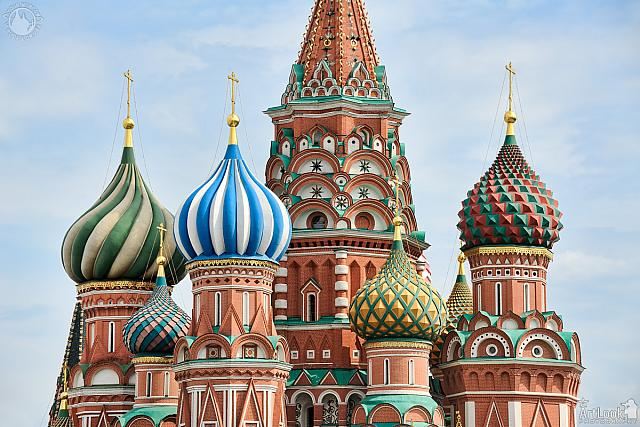 Colorful Onion-shaped Cupolas of St. Basil's Cathedral
