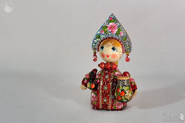 Colorful Wooden Russian Doll