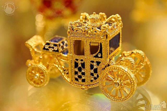 Golden Carriage in Faberge Style