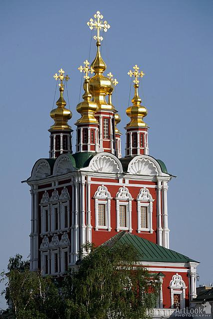 Golden Domes of Transfiguration in Baroque (Moscow Novodevichy)