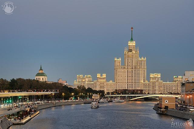 The Building on Kotelnicheskaya Embankment at Autumn Twilight