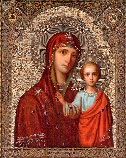 Icon of the Mother of God of Kazan – Shot