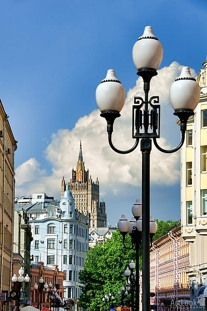 Street Lamps and Buildings of Old Arbat
