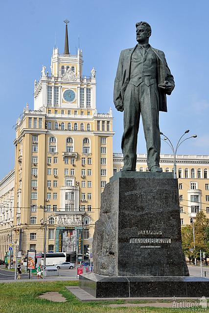 The monument to Vladimir Mayakovsky on Triumphalnaya Square