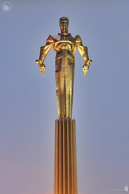 The Statue of Yuri Gagarin in Golden Hour
