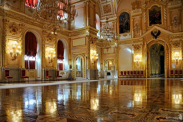 Splendid St. Alexander Hall in Grand Kremlin Palace
