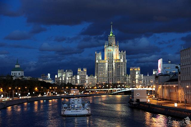 Stalin's High-rise on Bank of Moscow River