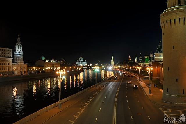 Kremlin Embankment at Night