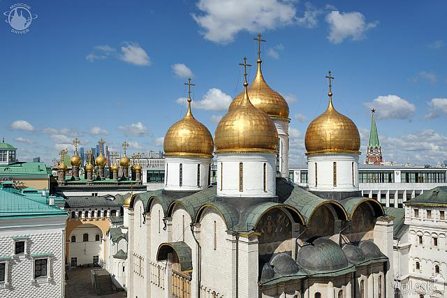 Golden Cupolas of Assumption Cathedral Touching The Sky