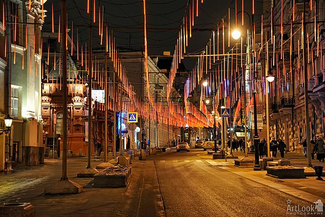 New Year Light Installations Along Bolshaya Dmitrovka