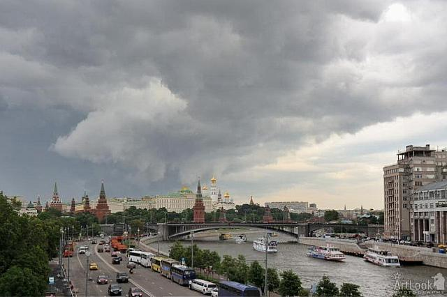 Moscow Under Stormy Clouds