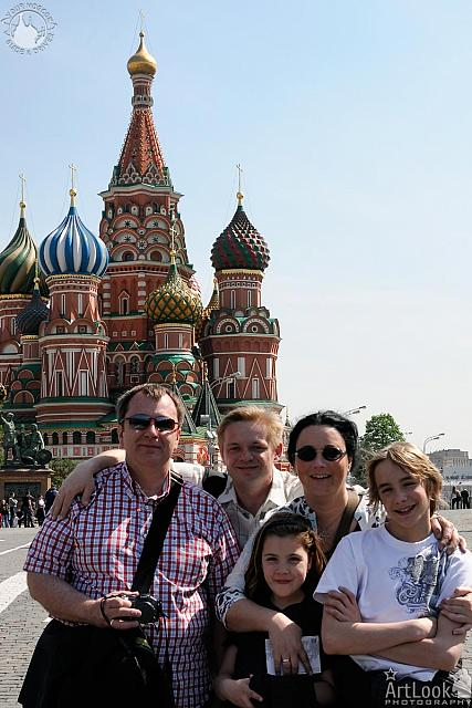 Picture with Dworaks on the Red Square