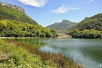 Devichye Lake in the Mountains at the Village of Khoja-Sale