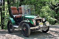 Amazing Green Vintage Opel Car from the 1910s