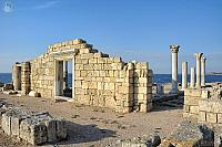 The Ruins of the Basilica 1935 on the Sea Shore of Chersonesos
