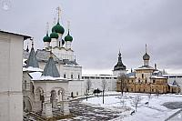 Overview Rostov Kremlin in Winter