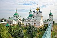 Ensemble of Spaso-Yakovlevsky Monastery in Cloudy Summer Day