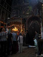 Pilgrims come to venerate St. Sergius' relics in the Holy Trinity Cathedral