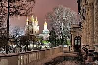 On the Grounds of Lavra in Late Winter Evening
