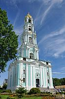 Russia Tallest Bell Tower Under Amazing Cirrus Clouds in Summer