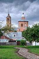 Private Houses and Church of Boris and Gleb before Storm