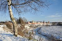 St. Euthymius Monastery & Kamenka River at Beginning of Winter