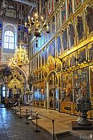 Iconostasis and Church Chandeliers of Nativity Cathedral (Angle View)