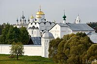 Architectural Ensemble of Pokrovsky Convent Framed with Trees