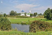 Kamenka River and Suzdal Kremlin in Summer