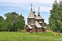 The Wooden Church of the Resurrection of Christ in a Summer Day