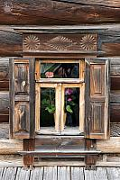Carved Wood Window of a Wealthy Peasant's House