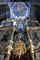 Top of Central Part of Baroque Iconostasis and Ceiling of Dome