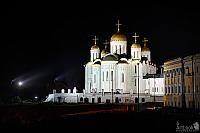 Lights on the Majestic White-Stone Cathedral