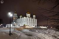 Assumption Cathedral in Winter Night