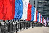 White, Blue & Red Banners - Novoarbatsky Bridge (Day of Russia)