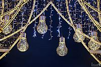 New Year LED Light Bulbs with Garlands