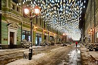 New Year Lights of Stoleshnikov Lane