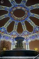 Under the Dome of the New Year Gazebo at Vitaly Fountain