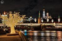 Moscow Kremlin Towers Framed by Paradise Tree